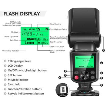 Neewer 750II TTL Flash Speedlite su LCD Ekranu, skirtas